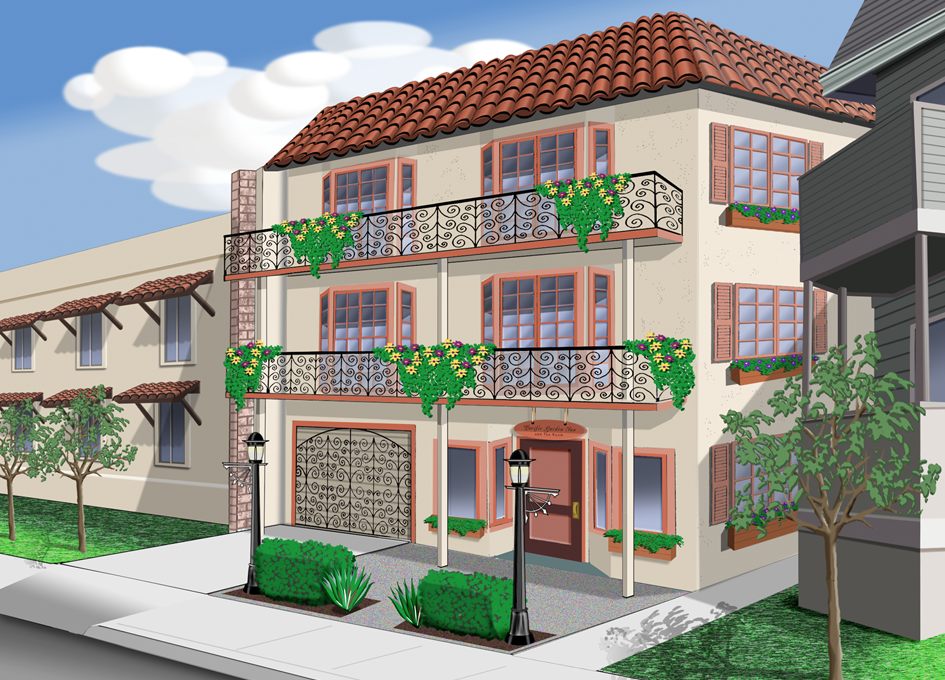 Pacific Garden Inn - Architectural Rendering